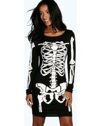 9dcfcfc2c4a9 Missguided Halloween Wednesday Adams Velvet Bodycon Dress In Black ...