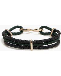 BoohooMAN Hook Clasp Woven Bracelet - Black