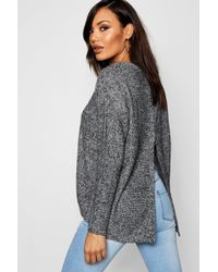 fbbba398eb Boohoo - Long Sleeve Jumper With Zip Back Detail - Lyst