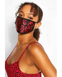 Boohoo Mixed Print Fashion Face Mask 3 Pack - Black