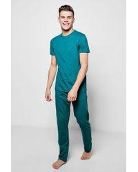 Boohoo - T-shirt & Lounge Trousers Jersey Pyjama Set - Lyst