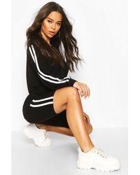 Boohoo Womens Zweiteiler aus Jersey und Shorts mit seitlichem Streifen - Schwarz