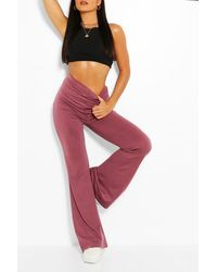 Boohoo Basic High Waist Jersey Flare - Multicolor