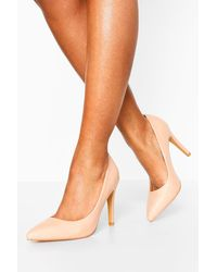 Boohoo Pointed Toe Courts - Natural