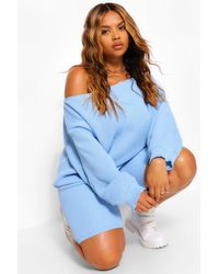 Boohoo - Plus Slash Neck Knitted Co-ord - Lyst