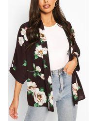 Boohoo Floral Print Kimono - Multicolour