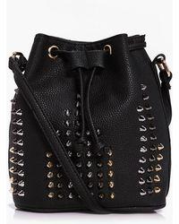 Boohoo Leila Studded Duffle Bag - Black