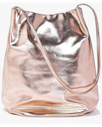 Boohoo Lois Metallic Origami Top Duffle Bag