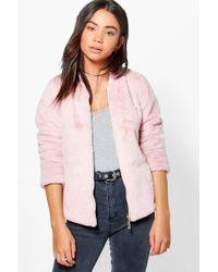 d42763dc8 Katie Faux Fur Bomber - Pink