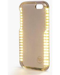 Boohoo Iphone 6 Plus Selfie Light Phone Case - Black