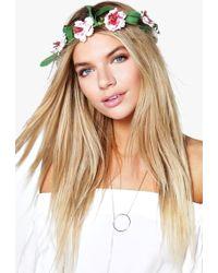 Boohoo - Iris Decorative Floral Headband - Lyst