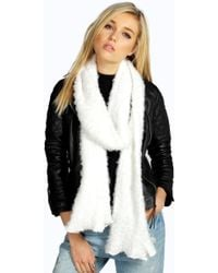 Boohoo - Layla Supersoft Hairy Scarf - Lyst