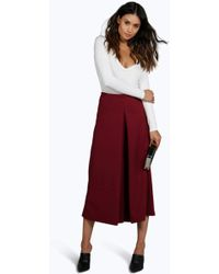 Boohoo Sally Cropped Trouser - Red