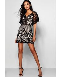 Boohoo Boutique All Over Lace Bodycon Dress - Black