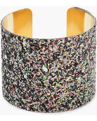 Boohoo - Glitter Bracelet Cuff - Lyst