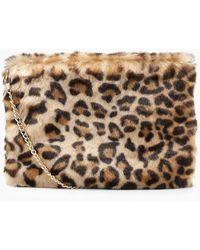 c9383a1ba3c6 Boohoo Mia Faux Fur Cross Body Bag in Gray - Lyst