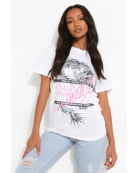 Boohoo Petite Official Dragon Graphic T-shirt - White