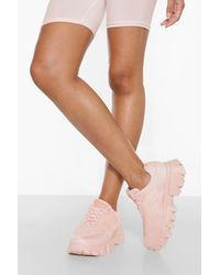 Boohoo Cleated Sole Sneaker - Blue