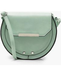 Boohoo - Amy Structured Saddle Cross Body - Lyst