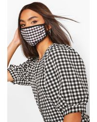 Boohoo Flannel Fashion Face Mask - Black