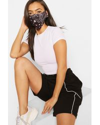 Boohoo Paisley Print Fashion Face Mask - Black