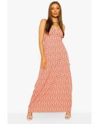 Boohoo Ditsy Floral Maxi Dress - Rosa