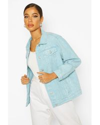 Boohoo Acid Wash Oversized Jean Jacket - Blue
