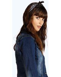 Boohoo Womens Bandana Print Headscarf Neckerchief - Black - One Size