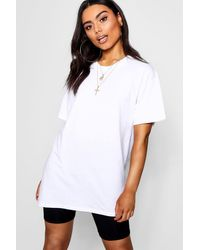 Boohoo Basic Oversized Boyfriend T-shirt - White