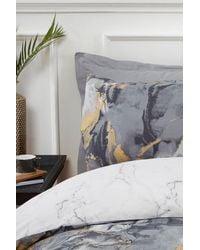 Boohoo Metallic Marble Print Double Duvet Set - Multicolour