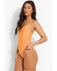 Boohoo - Tropicana V Neck Strappy Bathing Suit - Lyst