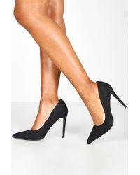 Boohoo Basic Stiletto Heel Court Shoes - Black