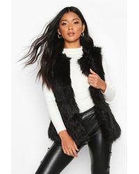 Boohoo Faux Fur Gilet - Black