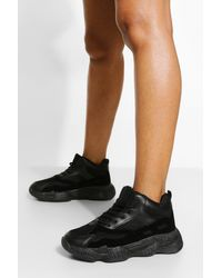 Boohoo - Contrast Sole Chunky Trainer - Lyst