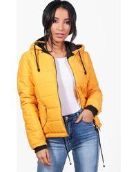 Boohoo | Harriet Hooded Padded Jacket | Lyst