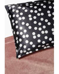 Boohoo Spotty Hair Protect Satin Pillow Case - Black