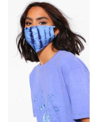 Boohoo Tie Dye Fashion Face Mask - Azul