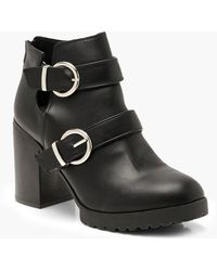 c38be0d8def7 Boohoo - Double Buckle Chunky Chelsea Boots - Lyst