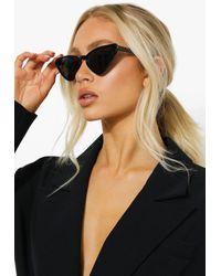 Boohoo Oversized Cat Eye Sunglasses - Nero