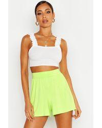 Boohoo Womens Basic Jersey Flippy Shorts - Green