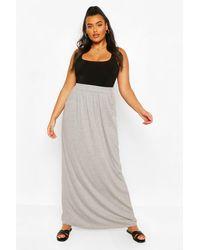 Boohoo Plus Pocket Front Jersey Maxi Skirt - Grey