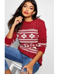 Fair Isle Christmas Sweater.Reindeer Fairisle Christmas Sweater