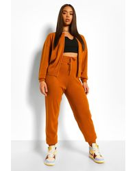 Boohoo - Zip Up Knitted Tracksuit - Lyst