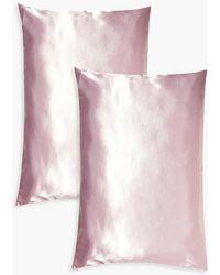 Boohoo 2 Pack Satin Hair Protect Pillowcase - Pink