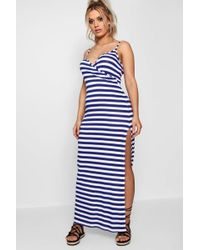 a87178bb7ea Boohoo Boutique Maya Lace Barely There Maxi Dress in White - Lyst