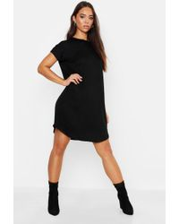 Boohoo - Basic Curved Hem T-shirt Dress - Lyst