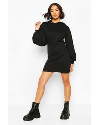 Boohoo - Corset Detail Hoody Dress - Lyst