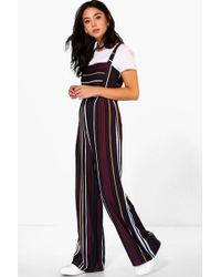 b6dc2665627 Boohoo Petite Bandeau Wide Leg Jumpsuit in Black - Lyst