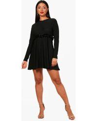 Boohoo - Micro Ruffle Skater Dress - Lyst