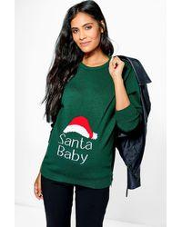 Boohoo - Maternity 'santa Baby' Christmas Jumper - Lyst
